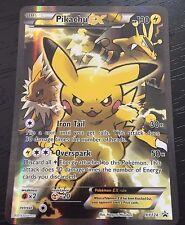 POKEMON TCG: PIKACHU EX XY124 - FULL ART HOLO PROMO CARD - ULTRA RARE - NM