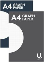 A4 Graph Paper notepad maths exercise book square margin 2 mm grid office school