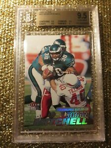 Pat Tillman 2001 Ultra NFL Brian Mitchell Eagles BGS 9.5 GEM Set Registry