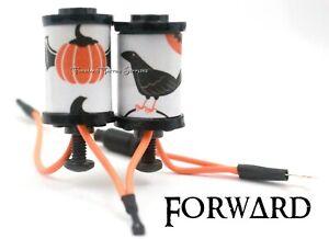 "1.25"" 8-32 Tattoo Machine Parts Coils 8 Wrap Black Washers Winged Pumpkin Raven"