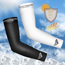 1 Pair Cooling UV Sun Protection Arm Sleeves Sports Outdoor Cover For Men Women