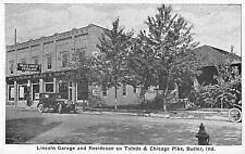 Butler Indiana Lincoln Garage And Toledo Residence Antique Postcard V20148