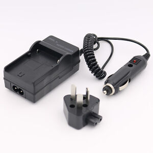 AC/Car Battery-Charger for Panasonic Lumix DMC-FZ5GN/FZ5PP/FZ5S/FZ7BB/FZ7BS/FZ50