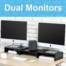 Dual Monitor Riser Stand Swivel and Adjustable for Computer TV Laptop-Free Style