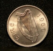 1960 IRELAND 6 pence coin Brilliant Uncirculated  Irish 6d