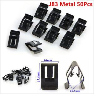 50Pcs Car Metal Clips Rivet Trim Clip Panel Body Interior Dashboard Assortments