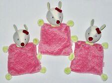 💥🍃 Rossmann Babydream 3 x Reh Bambi rosa Schmusetuch Schnuffeltuch WIE NEU *
