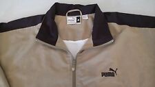 Womens Puma Lightweight Jacket, brown w/ black trim, probably xxl