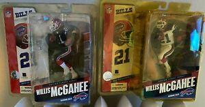 2 PACK 2005Blue & White Willis McGahee McFarlane Buffalo Bills Series 11