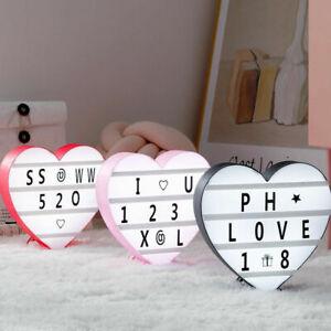 Love Heart Cards Decoration Home Letters Led Night Light Box Illusion USB Port