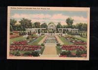 1943 Sunken Garden in Lakeside Park Fort Wayne Indiana Postcard