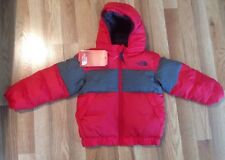 NWT The North Face Toddler Boys 550 Rated Goose Down Puffer Jacket Red Grey 3T