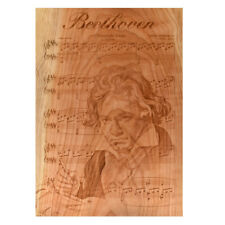 Beethoven - Classical composer Engraved in All Natural Wood CHERRY