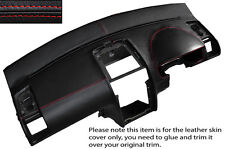 RED STITCH DASH DASHBOARD LEATHER SKIN COVER FITS VW TOURAN 2003-2010