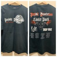 VINTAGE 2004 LINKIN PARK PROJEKT REVOLUTION TOUR T SHIRT SNOOP DOGG KORN XL