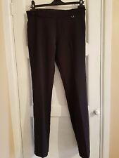 F&F GIRLS AGE 13-14 YEARS BLACK STRAIGHT LEG POLYESTER TROUSERS T6