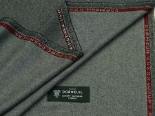 DORMEUIL 100% PURE CASHMERE, LIGHT GREY/BLACK JACKETING FABRIC 2.0METRES