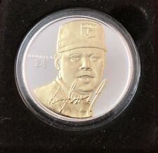 Ken Griffey JR Highland Mint Signature Series 1oz 999 Silver Coin 0027/1500 Troy