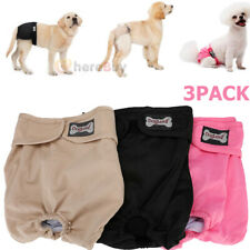 3x Reusable Washable Dog Diapers - Dog Puppy Belly Wraps Pant for XL Female Dog