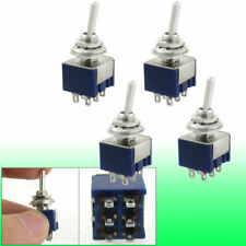 4 Pcs Ac 125v 6a Amps Oncenter Offon 3 Position Dpdt 6 Pins Toggle Switch