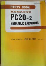 Komatsu escavatori idraulici PC 20-2 catalogo parti di ricambio