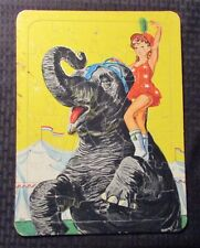 Vintage S.P. Co, CIRCUS ELEPHANT & GIRL Frame Tray Puzzle VG- 3.5