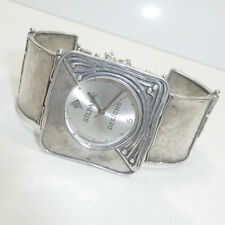 Silpada .925 Sterling Silver Square Link Watch T1372 Hammered