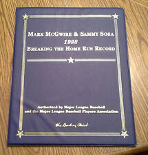 *Danbury Mint Mark McGwire & Sammy Sosa 1998 Breaking Home Run Record