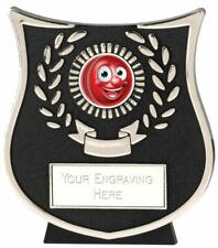 Emblems-Gifts Curve Silver Kids Cricket Plaque Trophy With Free Engraving