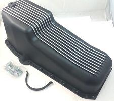 Classic Black Finned Aluminum SB Chevy SBC Oil Pan W/ Bolts 283 327 350 58 - 78