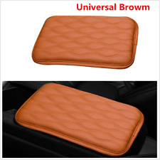 Brown Car Accessories Armrest Pad Cover Auto Center Console PU Leather Cushion