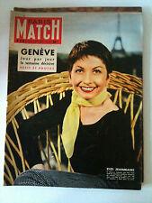 Paris Match 24/07/1954; ZiZI Jeanmaire/ Genève/ Napoléon/ Indochine