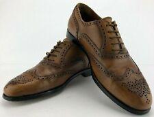 Bruno Magli Wingtip Oxfords Alvar Brown Dress Shoes Brogue Italy Mens US 10 M