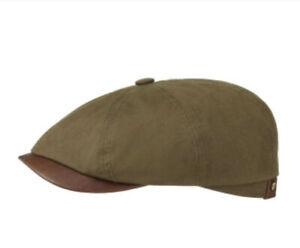 Stetson Europe Large 59cm HATTERAS WAXED COTTON OUTDOOR CAP OLIVE 8/4 Cabbie