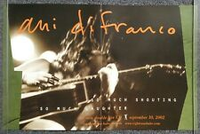 Ani DiFranco So Much Shouting So Much Laughter 2002 PROMO POSTER