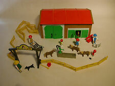PLAYMOBIL 3436 & 7002 STABLE WITH EXTRA FENCING 1985 GERMANY