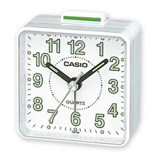 Casio TQ-140-7EF  Reloj despertador cuarzo, analógico- Blanco