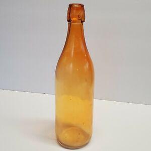 """Vintage Glass Decorative Bottle oarnge 12"""" hanging (fr)"""
