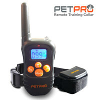 PetPro Remote Dog Training Collar 300m Range, Waterproof, Rechargable (1 Collar)