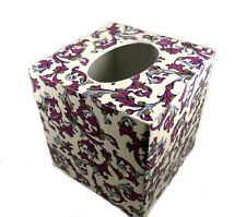 Decoupage Wood Tissue Box Cover Rossi Traditional Florentine Style Paper - Lilac