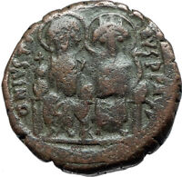 JUSTIN II & SOPHIA 565AD Constantinople Follis Ancient Byzantine Coin i66062