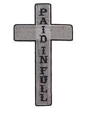 Cross Center Patch Paid In Full Black w/ White