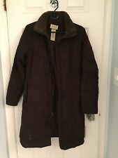 Ll Bean Goose Down Coat Xs Brown Quilted