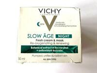 Vichy Slow Age NIGHT - Fresh Cream & Mask - Re-Oxygenating & Renewing - 50ml