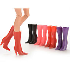 """10 Pairs Mix Pairs High Heels Shoes 2.17"""" Boots For Barbie Dolls Color Random"""