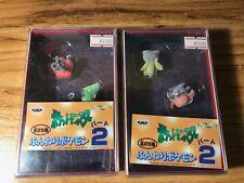 POKEMON Vintage 1997 Banpresto 2 figure case x2 felt finish Japan VHTF