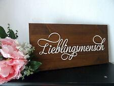 Holzschild / Lieblingsmensch 39 x 20 cm mit Farbauswahl