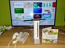 Nintendo Wii Console + All Cables & Controllers + Wii Sports Video Game RVL-001