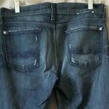 7 For All Mankind Size 28 Bootcut Jeans Dark Wash Fit W32 L35 7FAM