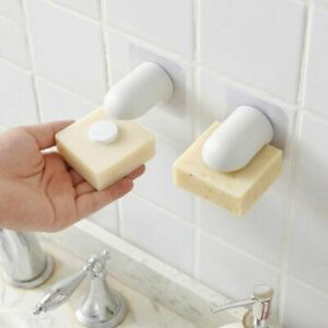Magnetic Soap Holder Powerful Suction Cup Holder Wall-mounted Soap Box Bathroom